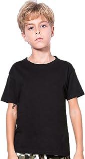 Unisex Kids Basic Short T Shirts Solid Color
