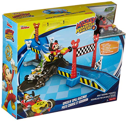 Fisher-Price Disney Mickey and The Roadster Racers Speed N' Spill Raceway
