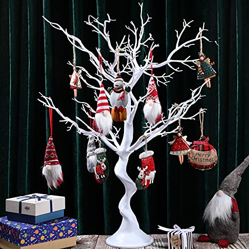 Centerpiece Wedding Tree Removable Simulation Artificial Tree for Home, Garden, Jewellery, Christmas or Halloween Party Decor, 30 inch in Height (White)