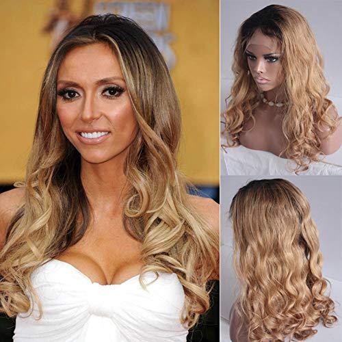 Glueless Lace Front Wig Blonde Body Wave Braizlian Human Hair Lace Wigs For Black Women 130% Density 18inch