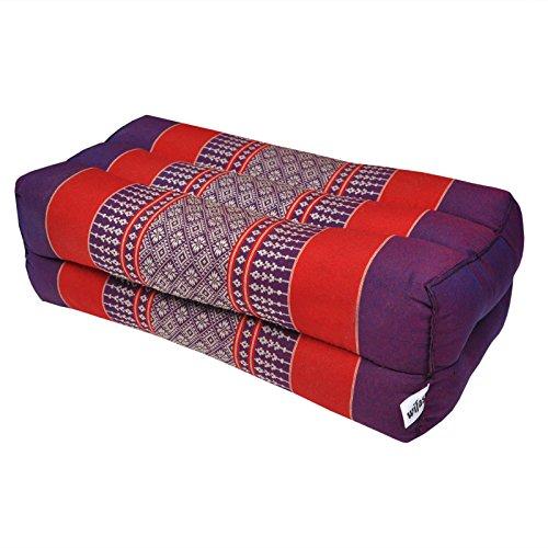 wifash Thaikissen Kapok Bodenkissen Dreieckskissen Nackenkissen Liegematte Sitzkissen Lounge ***violett-rot*** Verschiedene Modelle und Größen erhältlich ***Handmade*** (Kissen Meditation (81504))