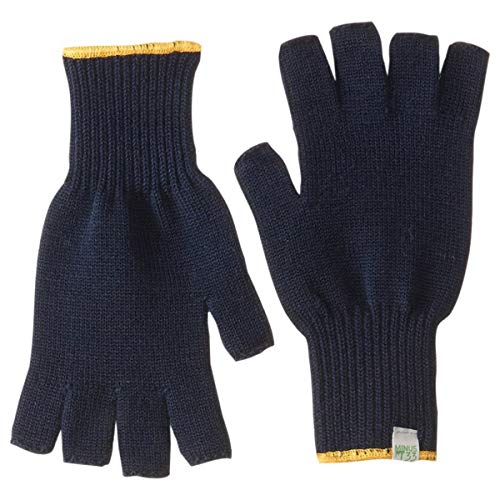 Minus33 Merino Wool 6610 Fingerless Glove Liner Navy Large