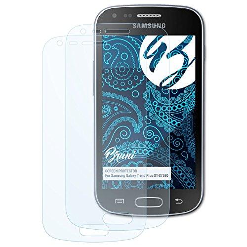 Bruni Schutzfolie kompatibel mit Samsung Galaxy Trend Plus GT-S7580 Folie, glasklare Displayschutzfolie (2X)