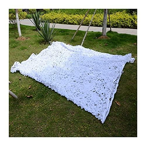 GAXQFEI Neta de Sombrilla, Pantalla de Sombra Ligera Al Aire Libre, Tela de Sombra Solar Resistente Al Desgarro para Decoración de Jardín Dormitorios para Niños, Tamaño Personalizado/Blanco/4M*10M