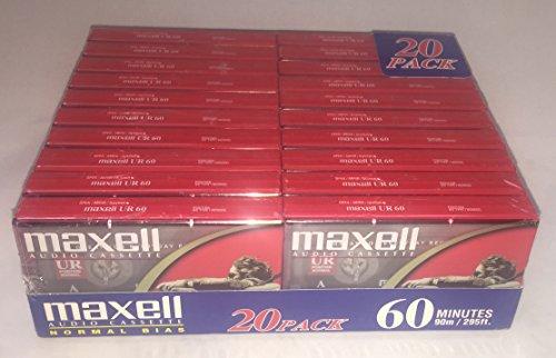 Maxell Audio Cassette UR 60 20 pack