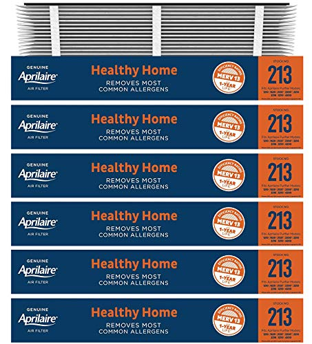 6 Pack of Aprilaire 213 MERV 13 Replacement Filter Media. 20' x 26' x 4'. Brand New Genuine Aprilaire Product.