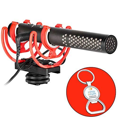 Rode Videoomic NTG Broadcast camera microfoon + keepdrum sleutelhanger met flesopener
