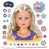 Zapf Creation 828694 BABY born Sister Styling Head 2-in-1 Frisierpuppe und Schminkkopf, hochwertige...