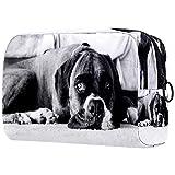 Boxer - Bolsa de maquillaje para perros, organizador de viaje, portátil, neceser para niñas, mujeres
