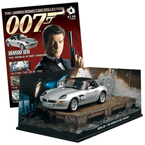 Colección de vehículos 007 James Bond Car Collection Nº 4 compatible con BMW Z8 (El Mundo Nunca Es Suficiente)