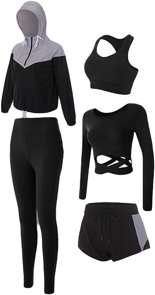 Leggings Deportivos y Top para Gimnasia Jogging y Deportes Yoga Conjunto Fitness para Mujer