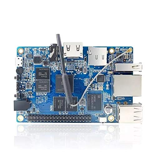 Maleta de Accesorios del Pi de Frambuesa Orange Pi Plus 2E H3 Quad Core 1.6GHZ 2GB RAM 4K Mini PC Placa de Desarrollo de código Abierto