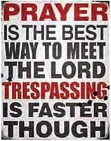 Prayer ブリキ 看板 輸入品 ビンテージ風 38×30cm