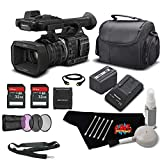 Panasonic HC-X1000 4K Camcorder with High-Powered 20x Optical Zoom Bundle w/ 32GB Memory Cards, Carrying Case + UV Filter + More