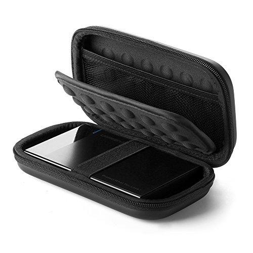 UGREEN Festplatten Tasche 2.5 Zoll Case Externe Festplattentasche Wasserdicht Eva Universal Powerbank Tasche Kabel Tasche Organizer kompatibel mit WD Elements, My Passport, Seagate, SanDisk, HDD, SSD