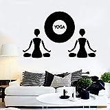 WERWN Yoga Tatuajes de Pared meditación meditación Arte Budista Vinilo Pegatinas de Ventana salón Estudio Gimnasio decoración Interior relajación Cuerpo Salud Mural