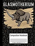 Extinct Rhinocerus Piacenzian SIbiricum Elasmotherium Composition Notebook 110 Pages Wide Ruled 8.5 x 11 in: Extinct Animals Book For Kids