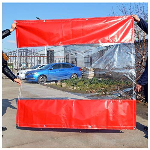 YYFANG Lona De Protección, Carpa Impermeable Transparente, Cortina Completamente Transparente, Tela Impermeable, Lona Impermeable, A Prueba De Viento Y Cálida (Color : Red, Size : 1.8x3m)