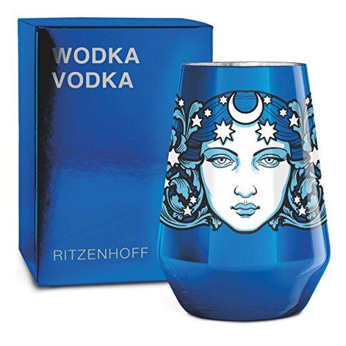 RITZENHOFF 3570003 Vasos de vodka, Azul cany, plata, negro, blanco, azul claro