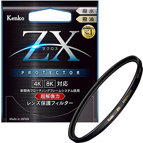 Kenko レンズフィルター ZX プロテクター 77mm レンズ保護用 撥水・撥油コーティング フローティングフレームシステム 日本製 277324
