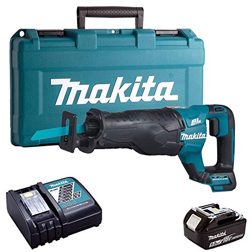 Makita DJR187Z 18V Reciprocating Saw with 1 x 5.0Ah Battery, Charger & Case