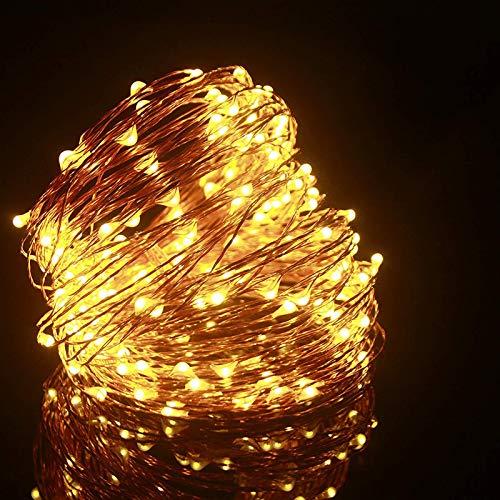 Cadena de Luces LED, ALED LIGHT Guirnalda de Luces de Navidad 20m 200 LED Blanco Cálido Alambre de Cobre Impermeable Luces Arbol Navidad Exterior Decorativas para Fiestas, Jardín, Patio, Boda, Árbol