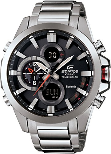 Casio Men's Edifice Tough Solar Stainless Steel Watch, Silver, ECB500D-1A