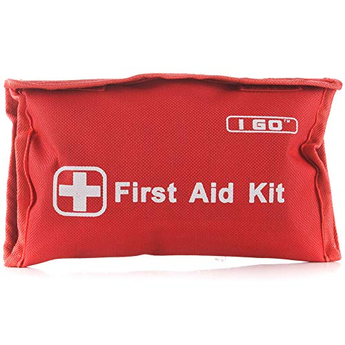 I GO Mini First Aid Kit, 95 Pieces Compact Small Kit for Hiking Camping Travel and Workplaces