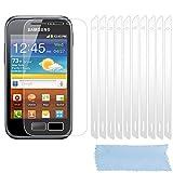 Cadorabo Funda para Samsung Galaxy Ace 2 Pantalla de Vidrio Templado Completo en – Cristal Antibalas Pelíula Protectora (Tempered Glass) Cobertura Completa con Dureza 9H Compatible 3D Touch