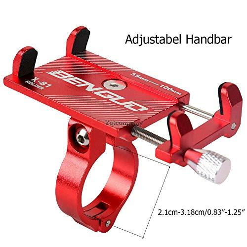 JLWDD Universele houder voor fietsstuur, voor 3,5-6,5 inch smartphones met 360 ° rotatie