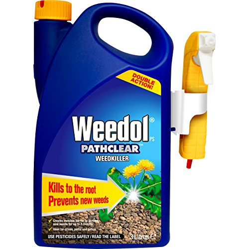 Weedol 13154 Path Clear Double Action Weed Killer, Blue, 3 Litre Power Sprayer