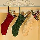 NIGHT-GRING Pack 3, 45,7cm Knit Christmas Stockings Woven Strümpfe Weihnachtsschmuck...