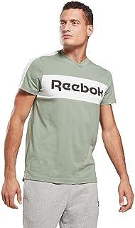 تي شيرت رياضي رجالي من ريبوك بشعار خطي SS