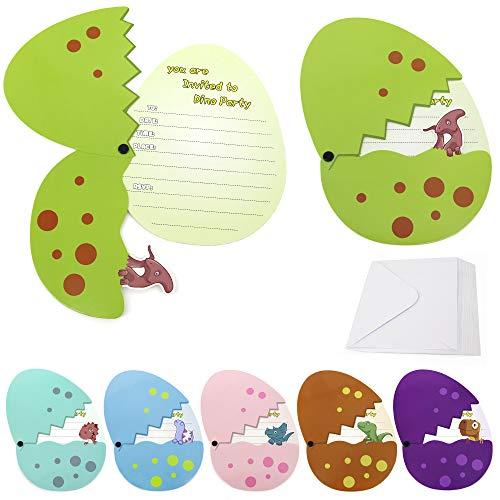 Dinosaur Birthday Invitations For Girls Boys Kids Party Invitations...