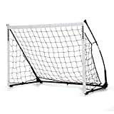 QUICKPLAY Kickster Elite Football Goal 1.5x1M – Ultra Portable Indoor & Outdoor Football Goal Features Weighted Base [Single Goal]