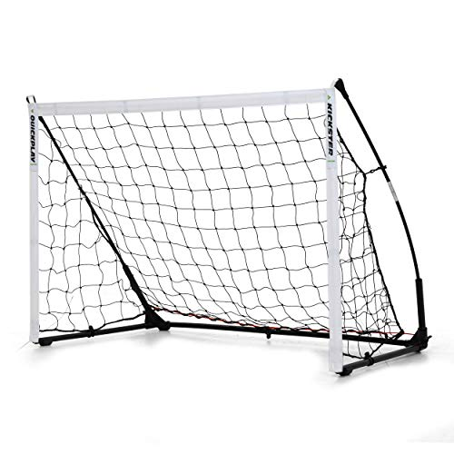 QUICKPLAY Kickster Elite Fußballtore 3 x 2M – Ultra Tragbar Innerhalb und Draussen Fußballtor | Verfügt über eine gewichtete Basis [einzelnes Fußballtor]