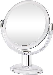 Gotofine دو طرفه آینه بزرگنمایی ماسک، بزرگنمایی 1X و 10X با 360 درجه چرخش - پاک و شفاف