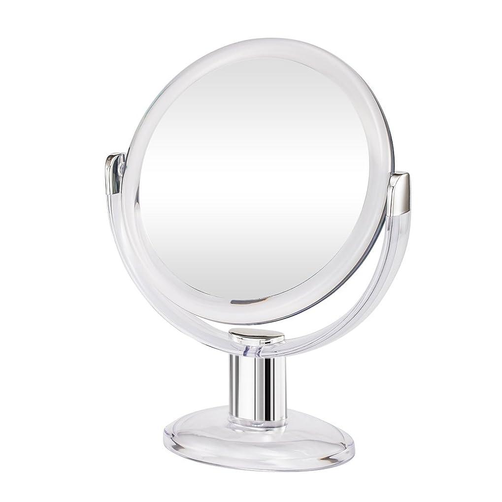 カストディアン美的新しい意味Gotofine両面拡大鏡、360度回転1倍と10倍倍率 - クリアと透明