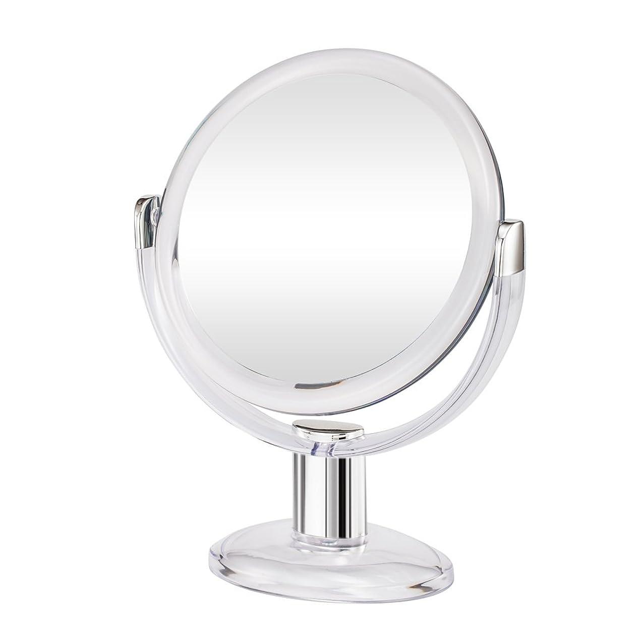 ドキュメンタリーエキス廃棄Gotofine両面拡大鏡、360度回転1倍と10倍倍率 - クリアと透明