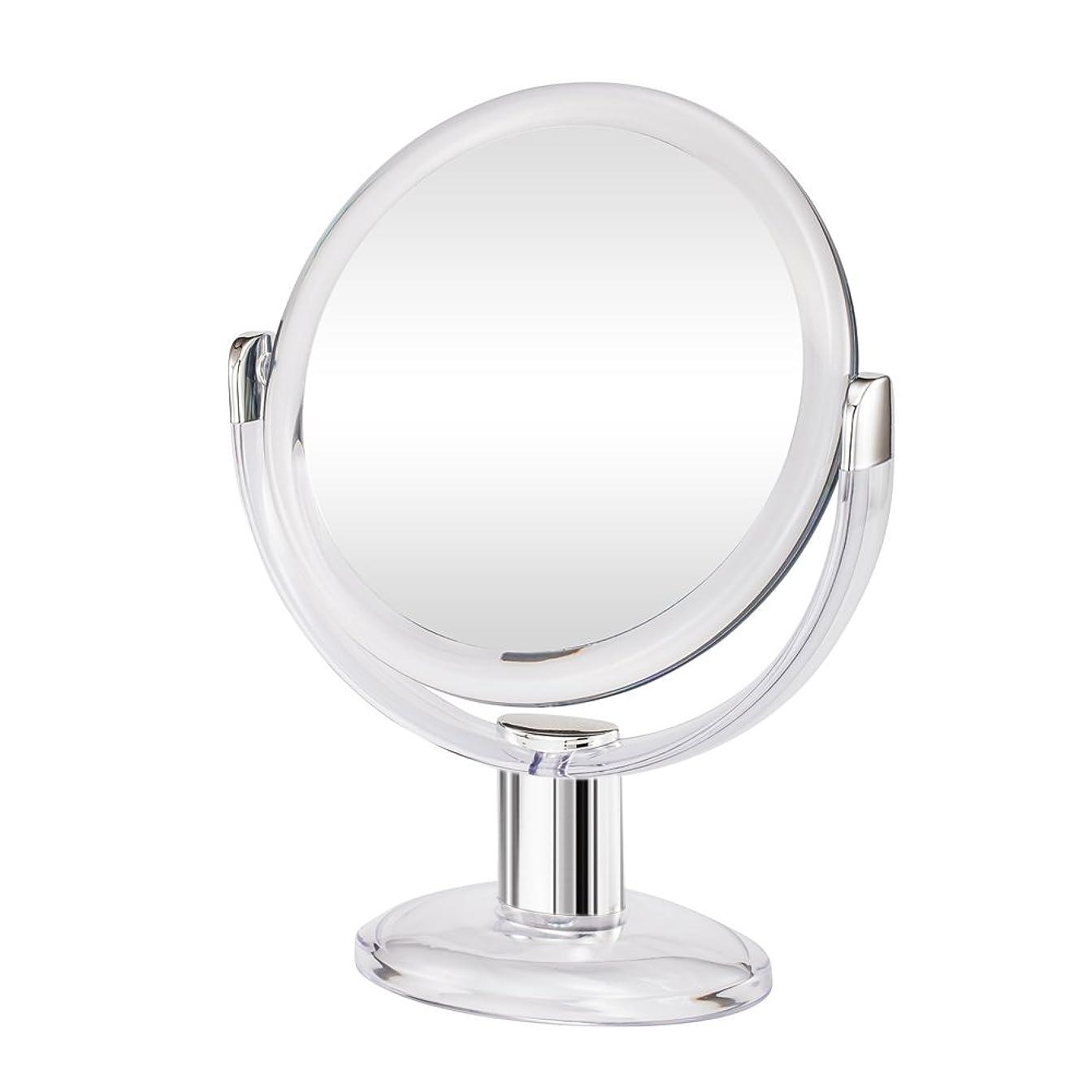 理論的砂利Gotofine両面拡大鏡、360度回転1倍と10倍倍率 - クリアと透明