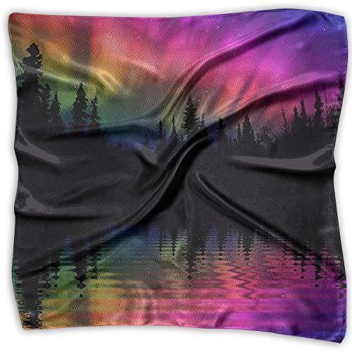 Handkerchiefs Scarf Aurora Borealis Reflections Novelty Shawl Bandanas Multi-Function Party Gifts