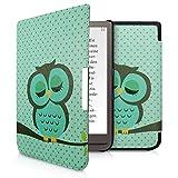 kwmobile Carcasa Compatible con Pocketbook InkPad 3/3 Pro/Color - Funda para Libro electrónico con Solapa - búho dormilón