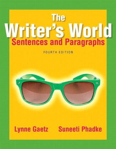 The Writer's World: Sentences and Paragraphs Plus MyWritingLab with Pearson eText -- Access Card (4th Edition)