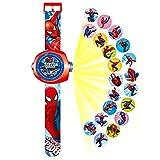 Reloj proyector de 24 personajes Spiderman Superhéroe Spiderman Reloj electrónico infantil reloj de pulsera