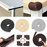 Jecenka Edge Guard Extra Thick Baby Safety Desk Edge Bumper Cover Protector Table Cushion 2M Edge   4 Corner