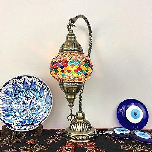 Tischlampe Mosaik Tisch Lampe Vintage Art Deco Handgefertigt De MesaMosaik Glas Romantisches Bett Light-Style_A_Eu_Plug_Au_Plug