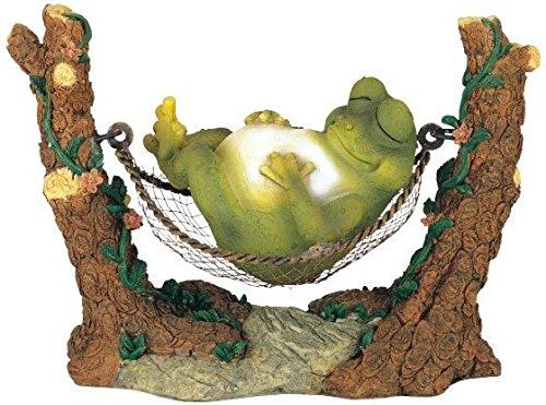 George S. Chen Imports SS-G-61047 Figurine de Jardin Grenouille sur hamac Modèle de Statue de Collection Vert