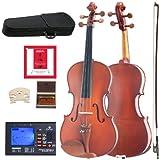 Cecilio CVA-400 Solidwood Viola with D'Addario Prelude Strings, Size 13-Inch