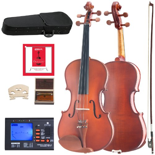 Cecilio CVA-400 Solidwood Viola with D'Addario Prelude Strings, Size 16-Inch