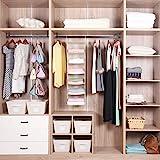 MAX Houser 6 Tier Shelf Hanging Closet Organizer, Cloth Hanging Shelf with 2 Sturdy Hooks,for Storage,Foldable,Beige